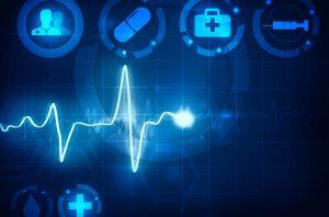 cardiogram wave medical background
